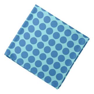 Lenço Azul do impressão do círculo das bolinhas