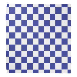 Lenço Azul e branco Checkered