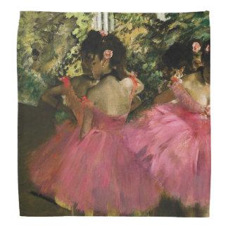 Lenço Bailarinas no rosa por Edgar Degas
