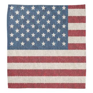 Lenço Bandeira americana da sarja de Nimes