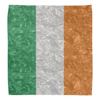 Lenço Bandeira de Ireland - enrugada