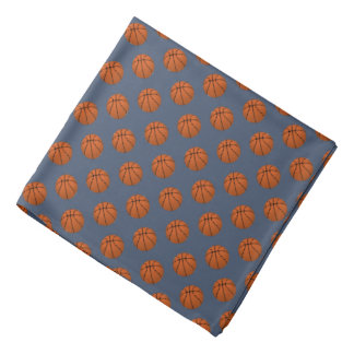 Lenço Bolas do basquetebol de Brown na calças de ganga