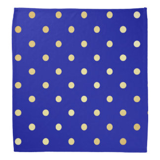 Lenço bolinhas do azul do ouro do falso