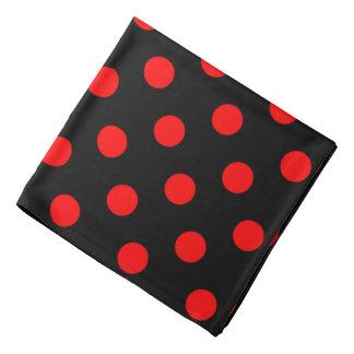 Lenço Bolinhas vermelhas no preto
