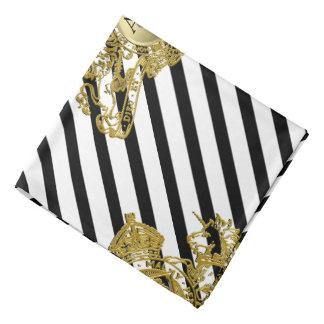 Lenço Bolso preto da lapela do emblema do leão do ouro
