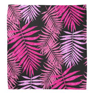 Lenço Brilho cor-de-rosa do falso da folha da palmeira