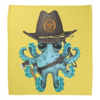 Lenço Caçador do zombi do polvo do bebê azul