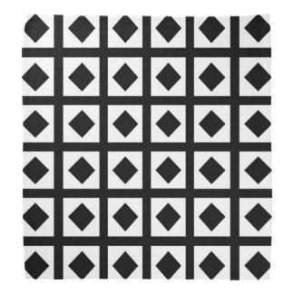 Lenço Carvões e quadrados brancos