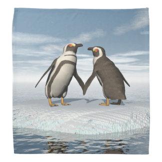 Lenço Casal dos pinguins
