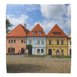 Lenço Casas de cidade velhas em Bardejov, Slovakia