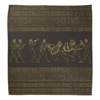 Lenço Cena antiga da piscina de Sparta no teste padrão