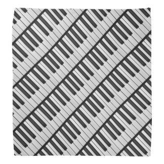 Lenço Chaves pretas & brancas do piano