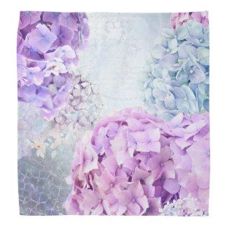 Lenço Colagem do Pastel do Hydrangea da flor do