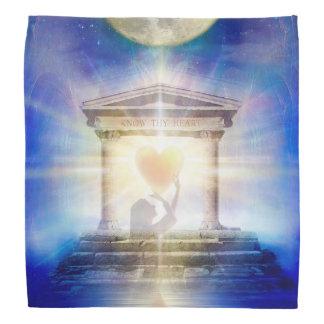 Lenço Coração do templo da lua V058