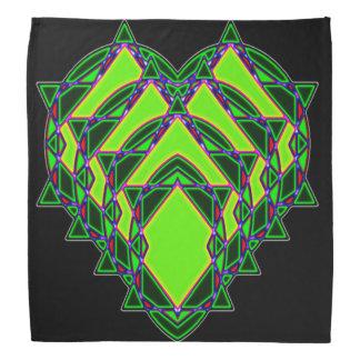 Lenço Coração verde abstrato