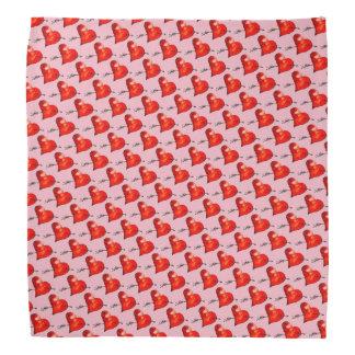 Lenço Corações pequenos cor-de-rosa modelados