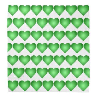 Lenço Corações verdes do inclinação