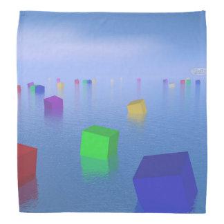 Lenço Cubos coloridos que flutuam - 3D rendem