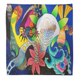 """Lenço Da """"Bandana colorido da flor chuva"""" de Dwainizms"""