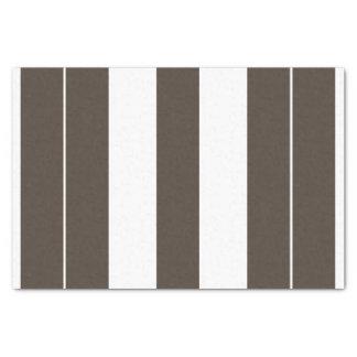 Lenço de papel 10lb listrado do Taupe e o branco