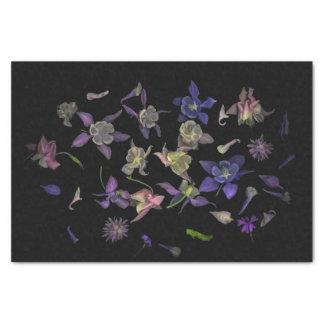 Lenço de papel 10lb mágico da flor, branco