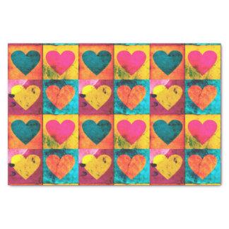 Lenço de papel afligido pop do coração
