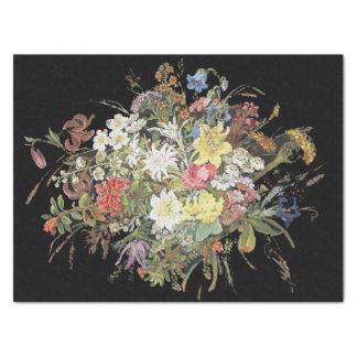 Lenço de papel alpino do buquê das flores dos