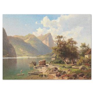 Lenço de papel alpino do lago mountain dos cumes