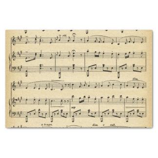 Lenço de papel antigo da partitura