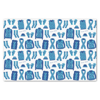 Lenço de papel azul dos artigos do teste padrão de