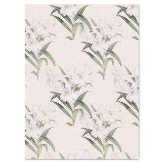 Lenço de papel botânico das diagonais do lírio de