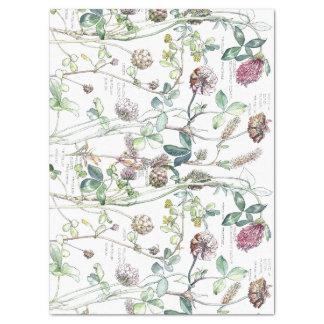 Lenço de papel botânico dos Wildflowers da flor do