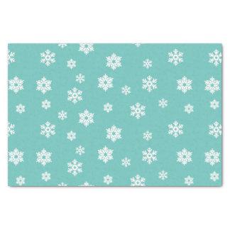 Lenço de papel branco bonito dos flocos de neve