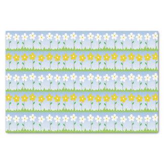 Lenço de papel branco e amarelo das flores