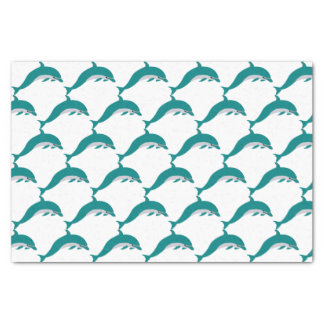 Lenço de papel branco & verde do golfinho