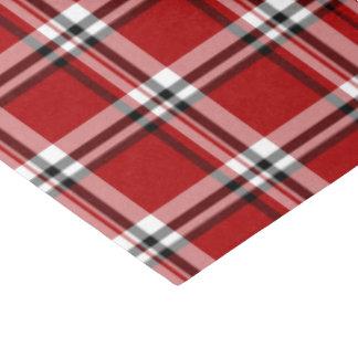 Lenço de papel clássico vermelho da xadrez