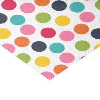 Lenço de papel colorido do teste padrão de
