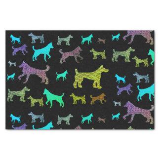 Lenço de papel colorido dos cães