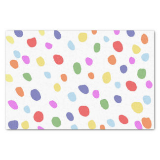 Lenço de papel colorido dos pontos