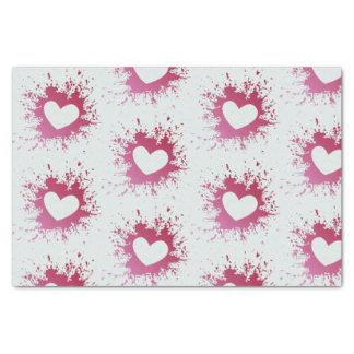 Lenço de papel cor-de-rosa bonito dos corações
