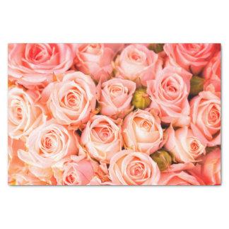 Lenço de papel cor-de-rosa coral dos rosas