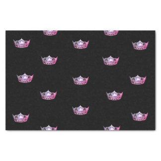 Lenço de papel cor-de-rosa da coroa da senhorita