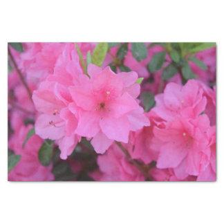 Lenço de papel cor-de-rosa da flor