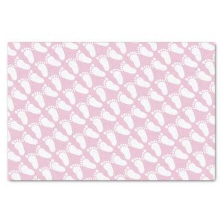Lenço de papel cor-de-rosa do presente do chá de