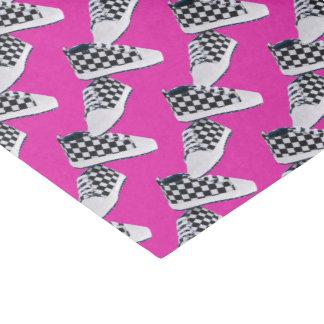 Lenço de papel cor-de-rosa do presente dos