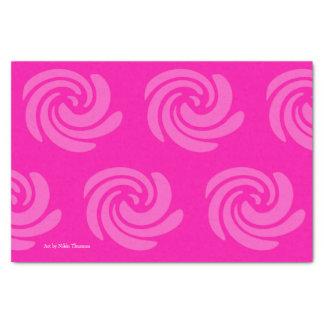 Lenço de papel cor-de-rosa do redemoinho