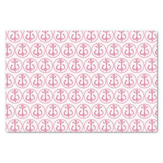 Lenço de papel cor-de-rosa náutico das âncoras do