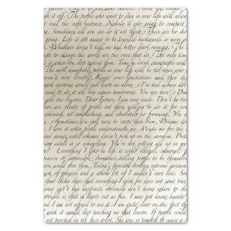Lenço de papel da arte do texto do roteiro do