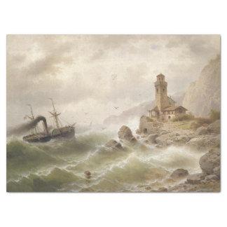 Lenço de papel da baliza do mar do navio do oceano