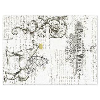 Lenço de papel da colagem de Digitas do roteiro do